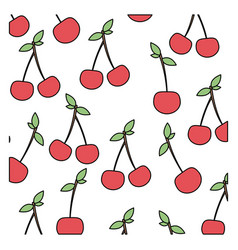 color cherrys background icon vector image