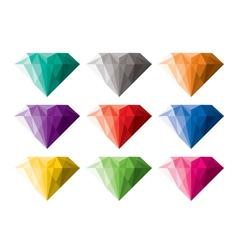 colorful diamonds vector image