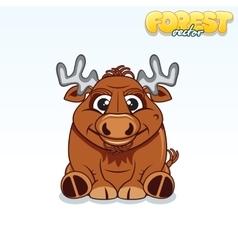 Cute Cartoon Forest Elk Funny Animal vector image vector image