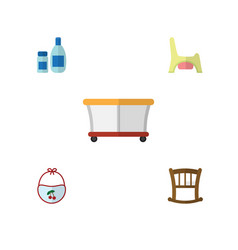 Flat child set of playground cream with lotion vector
