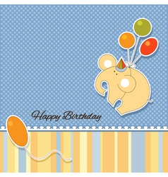 Its a baby boy announcement card vector image