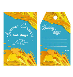 juicy summer template for your design vector image vector image