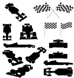 Racing Car Silhouette vector image vector image