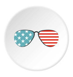 American glasses icon circle vector