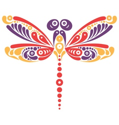 Beautiful dragonfly tattoo vector image vector image