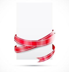 Promo tag Red ribbon vector image vector image