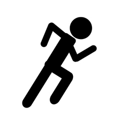 silhouette athletic runner sport active vector image