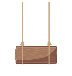 wooden signboard hanging vector image