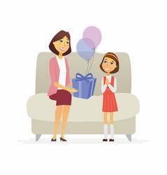 happy birthday - cartoon people characters vector image