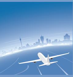 macao skyline flight destination vector image vector image