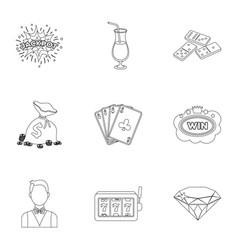 The set of symbols casino games gambling for vector
