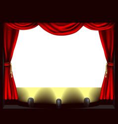 theatre stage vector image