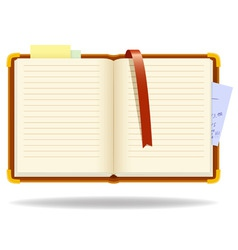 vector notepad organizer with bookmark vector image vector image