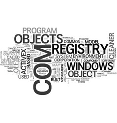 What is com and how it s related to registry vector