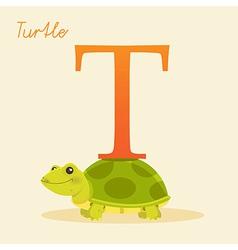Abc alphabet animal art baby background cartoon vector image vector image