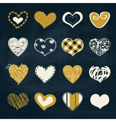 Artistic collection of hearts in assorted designs vector image