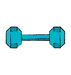 drawing dumbbell weight fitness gym icon vector image