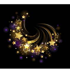 Flying gold star vector image