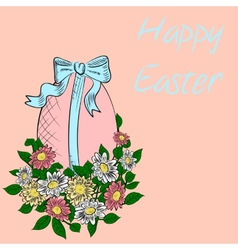 Hand-drawn Easter egg vector image