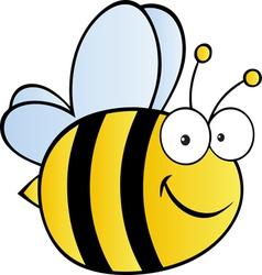 happy bee vector image vector image