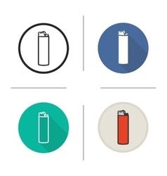 Lighter flat design linear and color icons set vector image vector image