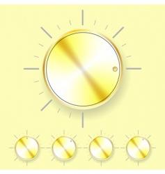 volume knob vector image vector image