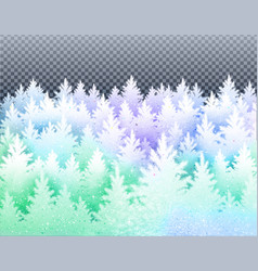winter landscape with icy frozen spruce forest vector image vector image