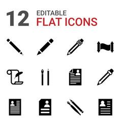 12 write icons vector