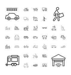37 vehicle icons vector