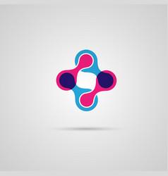 abstract connect circle molecule vector image