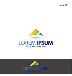 Abstract logo accounting vector