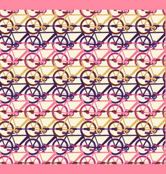 abstract pattern with bicycle traffic rows vector image
