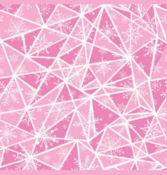 Abstract pink christmass snowflakes on vector
