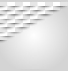 abstract white geometric texture background vector image
