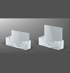 acrylic card holder glass plastic display stand vector image