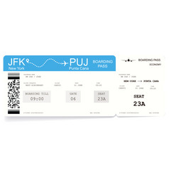 airline boarding pass or airplane ticket vector image