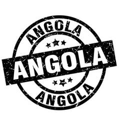 Angola black round grunge stamp vector