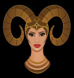 Aries woman vector