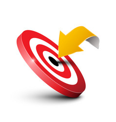 Arrow with target icon marketing concept business vector