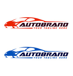 Autosport logo design template vector