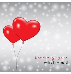 Balloons heart vector