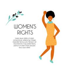 black striking woman vector image