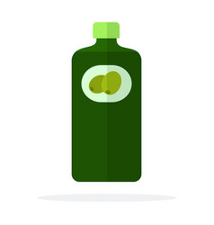 bottle olive oil flat isolated vector image
