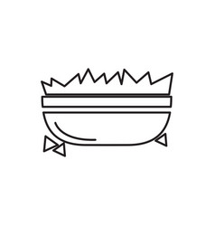 bowl of nachos outline vector image