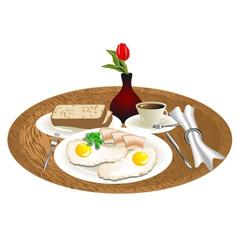 breakfast tray vector image
