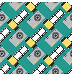 Camera photo studio flat optic lenses types vector