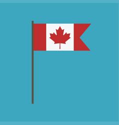 Canada flag icon in flat design vector