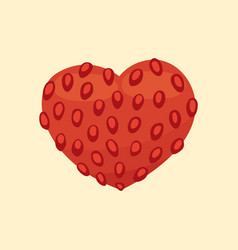 cartoon healty fruit heart isolated vector image