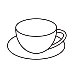 Coffee cup line art icons for apps and websites vector