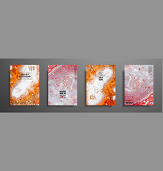 Colorful covers design set with textures closeup vector